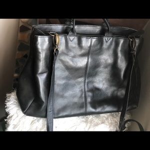 Vtg LATICO Double Zip XL Leather Brief Bag